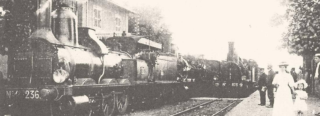 La Gare de Dracy-Saint-Loup en 1882